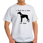 Doberman Personalizable I Bark For A Cure Light T-