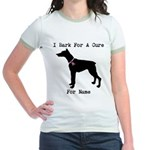 Doberman Personalizable I Bark For A Cure Jr. Ring