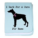 Doberman Personalizable I Bark For A Cure baby bla