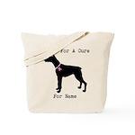 Doberman Personalizable I Bark For A Cure Tote Bag