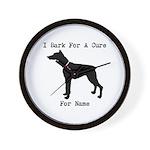 Doberman Personalizable I Bark For A Cure Wall Clo