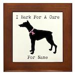 Doberman Personalizable I Bark For A Cure Framed T