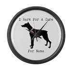 Doberman Personalizable I Bark For A Cure Large Wa