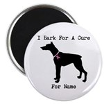 Doberman Personalizable I Bark For A Cure 2.25