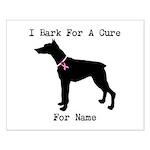 Doberman Personalizable I Bark For A Cure Small Po