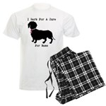 Dachshund Personalizable I Bark For A Cure Men's L