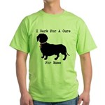 Dachshund Personalizable I Bark For A Cure Green T