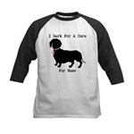 Dachshund Personalizable I Bark For A Cure Kids Ba