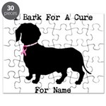 Dachshund Personalizable I Bark For A Cure Puzzle