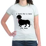 Dachshund Personalizable I Bark For A Cure Jr. Rin