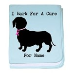 Dachshund Personalizable I Bark For A Cure baby bl