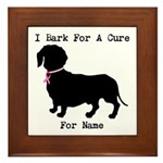 Dachshund Personalizable I Bark For A Cure Framed