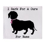 Dachshund Personalizable I Bark For A Cure Stadiu