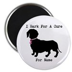 Dachshund Personalizable I Bark For A Cure 2.25