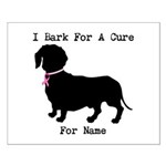 Dachshund Personalizable I Bark For A Cure Small P