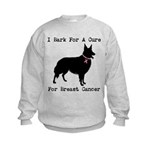 Collie Personalizable I Bark For A Cure Kids Sweat