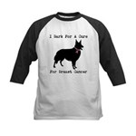 Collie Personalizable I Bark For A Cure Kids Baseb