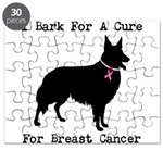 Collie Personalizable I Bark For A Cure Puzzle