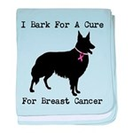 Collie Personalizable I Bark For A Cure baby blank