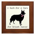 Collie Personalizable I Bark For A Cure Framed Til
