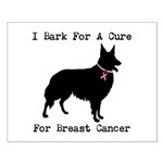 Collie Personalizable I Bark For A Cure Small Post