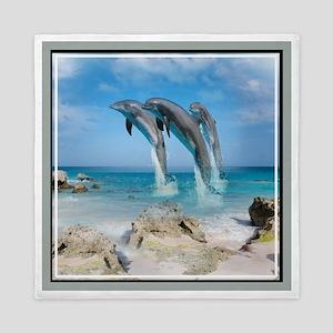 Dolphins In Paradise Queen Duvet