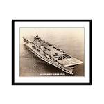 USS BON HOMME RICHARD Framed Panel Print