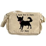 Chihuahua Personalizable I Bark For A Cure Messeng