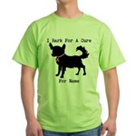 Chihuahua Personalizable I Bark For A Cure Green T
