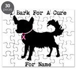 Chihuahua Personalizable I Bark For A Cure Puzzle