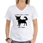 Chihuahua Personalizable I Bark For A Cure Women's