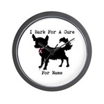 Chihuahua Personalizable I Bark For A Cure Wall Cl