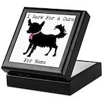 Chihuahua Personalizable I Bark For A Cure Keepsak