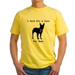 Bull Terrier Personalizable Bark For A Cure Yellow