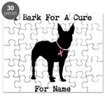 Bull Terrier Personalizable Bark For A Cure Puzzle