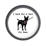 Bull Terrier Personalizable Bark For A Cure Wall C