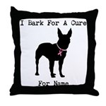 Bull Terrier Personalizable Bark For A Cure Throw