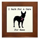 Bull Terrier Personalizable Bark For A Cure Framed
