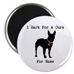 Bull Terrier Personalizable Bark For A Cure Magnet