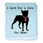 Boston Terrier Personalizable Bark For A Cure baby