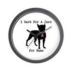 Boston Terrier Personalizable Bark For A Cure Wall