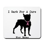 Boston Terrier Personalizable Bark For A Cure Mous
