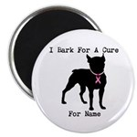 Boston Terrier Personalizable Bark For A Cure Magn