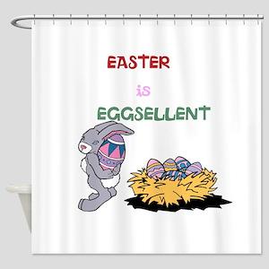 Eggsellent Easter Shower Curtain
