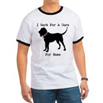Bloodhound Personalizable Bark For A Cure Ringer T