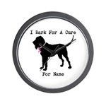 Bloodhound Personalizable Bark For A Cure Wall Clo
