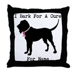 Bloodhound Personalizable Bark For A Cure Throw Pi