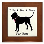 Bloodhound Personalizable Bark For A Cure Framed T