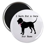 Bloodhound Personalizable Bark For A Cure Magnet