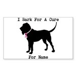 Bloodhound Personalizable Bark For A Cure Sticker
